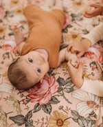 Garden Floral Rose Pink Crib Sheet | Mini Scout