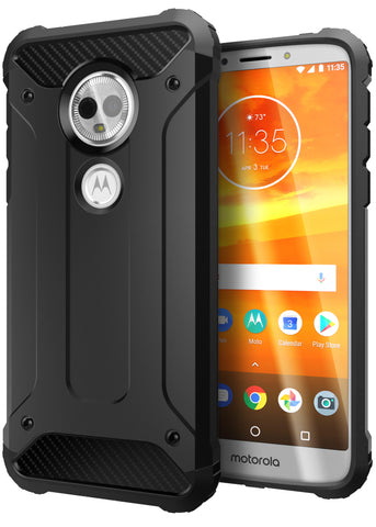 Moto E5 Plus Case Carbon Fiber Armor