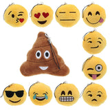 Best Gift Hcandice New Cute Emoji Smiley Emoticon Heart Eyes Key Chain Soft Toy Gift Pendant Bag Accessory bea666 - PKsmartshopping