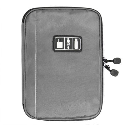 Electronic Accessories Bag Nylon Mens Travel Organizer For Date Line SD Card USB Cable Digital Device Bag Travel Accessories grey - PKsmartshopping