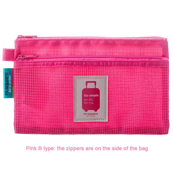 M Square Travel Accessories For Documents Organizer Storage Bag Document Bag Pink B type - PKsmartshopping