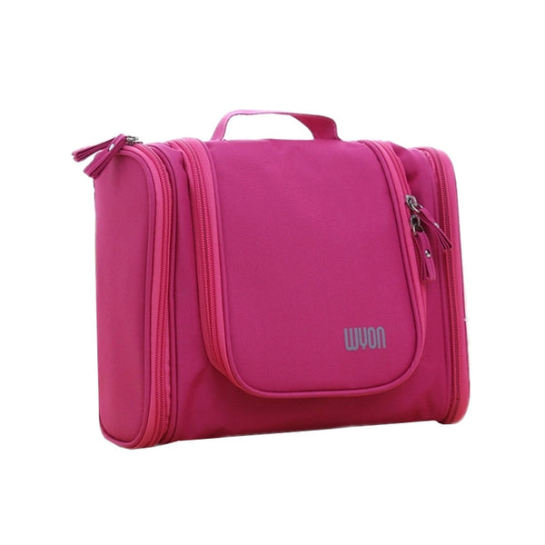Portable Large Storage Folding Waterproof Polyester Hanging Travel Accessories Men and Women Travel Toiletry Bags Pink - PKsmartshopping