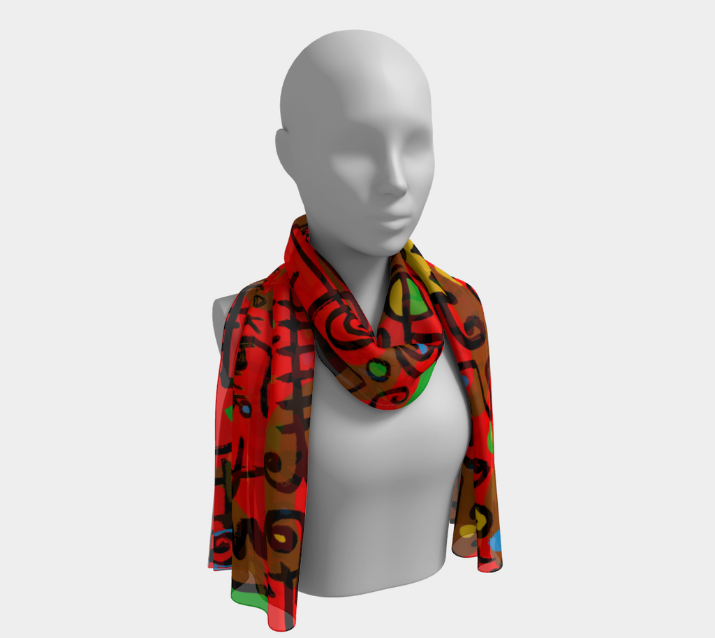 Red long Scarve
