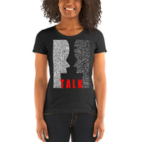 TALK. Ladies' short sleeve t-shirt