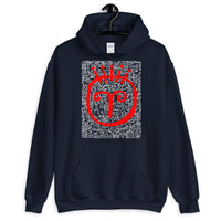 RED FACE (white) Unisex Hoodie