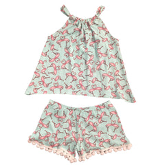 Esme Pajamas Flamingo Halter and Shorts