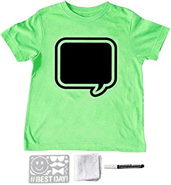 Green thought bubble chalkboard tee shirt