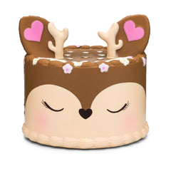 Authentic Slow Rising Silly Squishies Kawaii Deer Frosted Cake