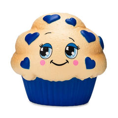 Authentic Silly Squishies Slow Rising Blueberry Muffin
