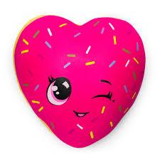 Authentic Silly Squishies Slow Rising heart Donut