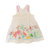 Baby Girl Shower Under the Sea Embroidered Dress