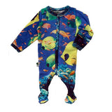 Baby Boy Shower Under the Sea Inchworm Alley Fish Footie