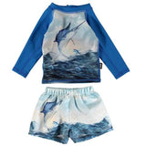 Baby Boy Shower Molo Swordfish Swimsuit Set
