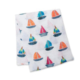 Baby Shower Baby Boy Lulujo Sailboat Swaddle