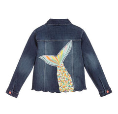 Billieblush Girls 50% off Mermaid Sequin Denim Jacket