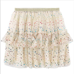 Billieblush Girls Ivory Confetti Tutu Skirt