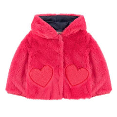 Billieblush Baby Toddler Girls faux Fur Fall 2019 Jacket Hot Pink