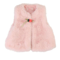 Billieblush Baby Toddler Girls Faux Fur Pink Vest