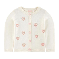 Billieblush Baby Toddler Girls Heart Print Cardigan Sweater