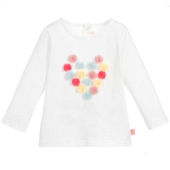 Billieblush Baby Toddler Girls Pompom T Shirt