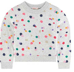 Billieblush Girls Metallic Polka Dot Sweatshirt