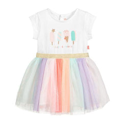Billieblush Girls Iscream Print Tulle Dress 50% off Girls Billieblush Clearance