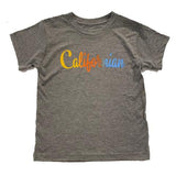 Boys Patrick Brand Graphic T Shirt Californian Grey