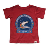 Kid Dangerous Boys Red Graphic tee Space Exploration
