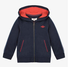 Catimini Boys Blue Navy Hoodie Red ZIpper