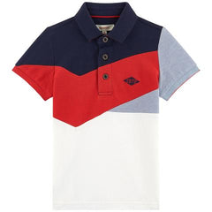 Catimini Boys Tri Color Polo Dressy