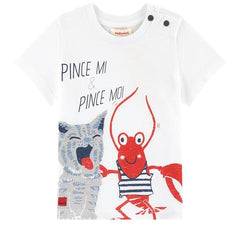 Catimini Boys Lobster White Tee