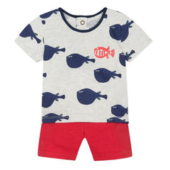 Catimini Baby Boy Tee and Shorts