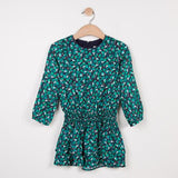 Catimini Girls Green Patterned Dress