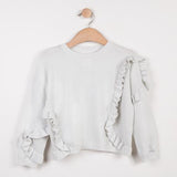 Catimini Girls Grey Ruffle Sweatshirt