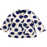 Catimini Girls Lined Polka Dot Jacket