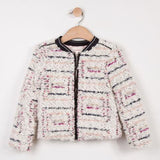 Catimini Girls Tweed Fleece Jacket