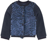 Catimini Girls Metallic Blue Bomber Jacket