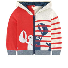Catimini Boys Zip Lobster Sweater