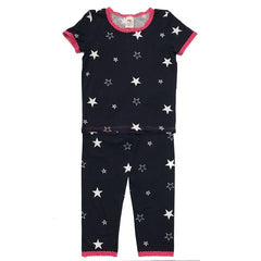 Esme Girls Pajamas Navy Star Short Sleeve