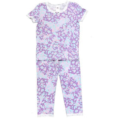 Esme GIrls Pajamas Cheetah Short Sleeve
