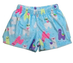 Girls iscream llama plush pajama shorts