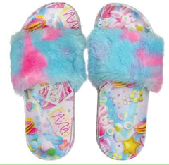 Iscream Plush Slides Chill Blue