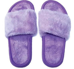 Iscream Plush Slides Purple
