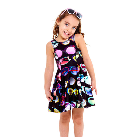 Terez Girls Sunglasses Printed Dress