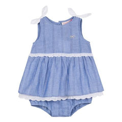 Lili Gaufrette Chambray onesie on sale