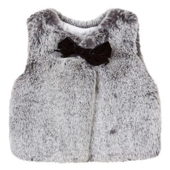 Lili Gaufrette Girls Faux Fur Winter Vest