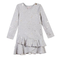 Lili Gaufrette Star Print Dress Grey