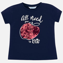 Mayoral Girls Apple Love Tee