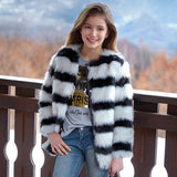 Mayoral Girls Faux Fur Jacket