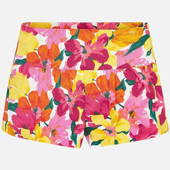 Mayoral Floral Sateen Dress Shorts